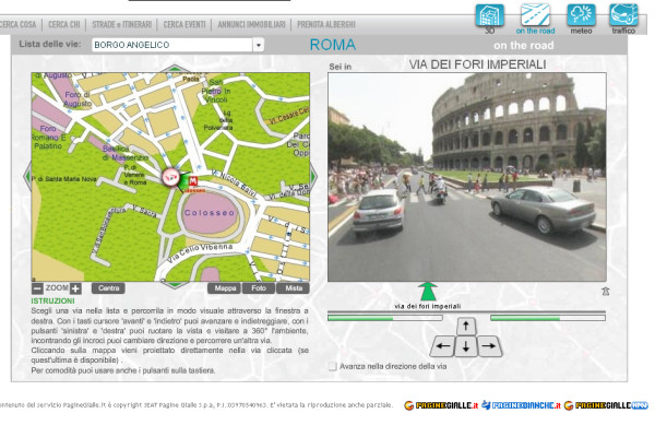 confronto Google street view Pagine gialle Roma