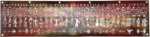Universal Symbol + Picto Grammatica = Iconica Lingua (2004) - Stampa digitale su banner in PVC, cm 94x200