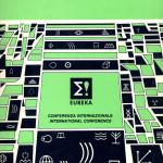 La copertina della conferenza internazionale Eureka a Milano, 1998, con la presentazione del codice linguistico EURO