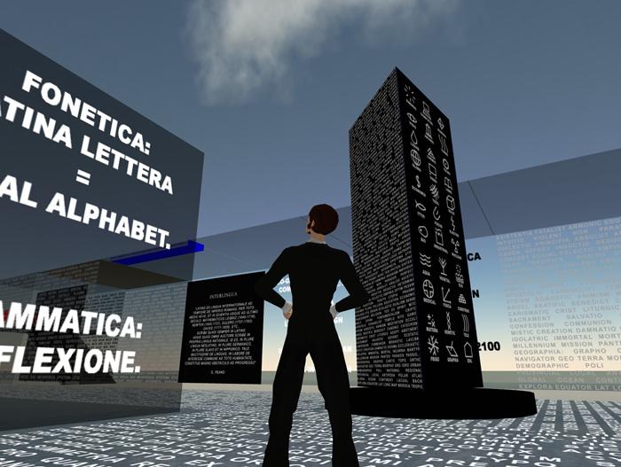 Euro Stele. Second Life installation. Carraro 2007.