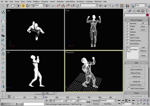 Interfaccia di Motion Capture in 3DS MAX