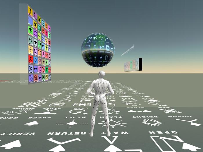 Lettero. Second Life installation. Carraro 2007.