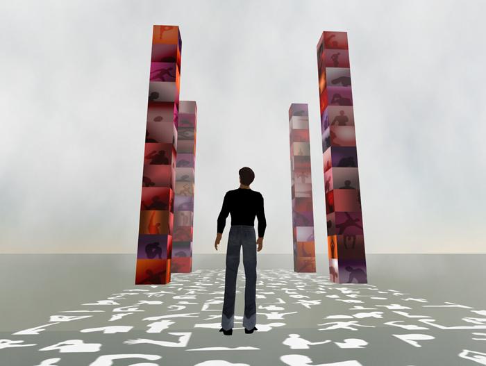 Mimos. Second Life installation. Carraro 2007.
