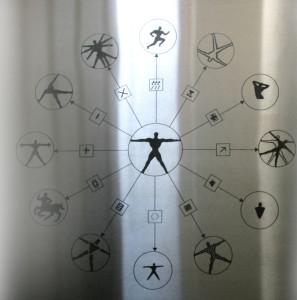 Pictomatic system (2004). Incisione laser  da immagine digitale su lastra di acciaio, cm 50x50