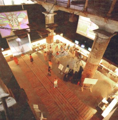 Il laboratorio di arte telematica Ubiqua nella Biennale di Venezia del 1986, prima occasione espositiva dei codici Neo Paleo