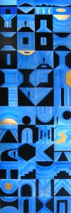Virtual Alphabet Picto (2004) Acrilico su tavola - cm 141x46
