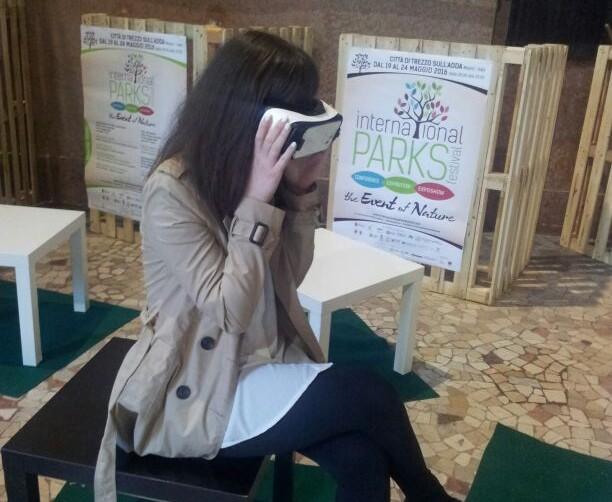 Applicazine di realtà virtuale ll'International Parks Festival 2016