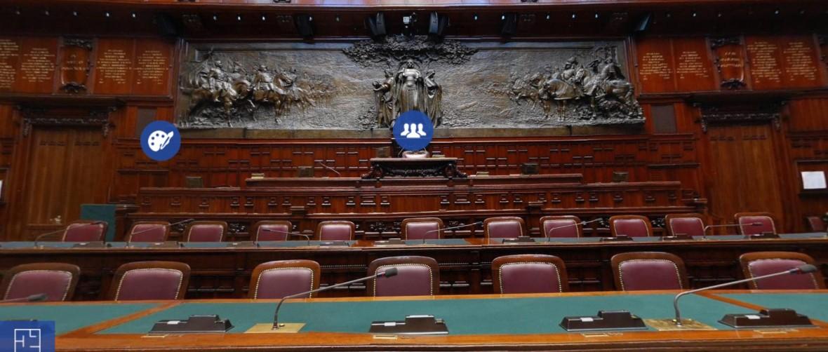 Tour virtuale della camera dei deputati montecitorio for Formazione della camera dei deputati