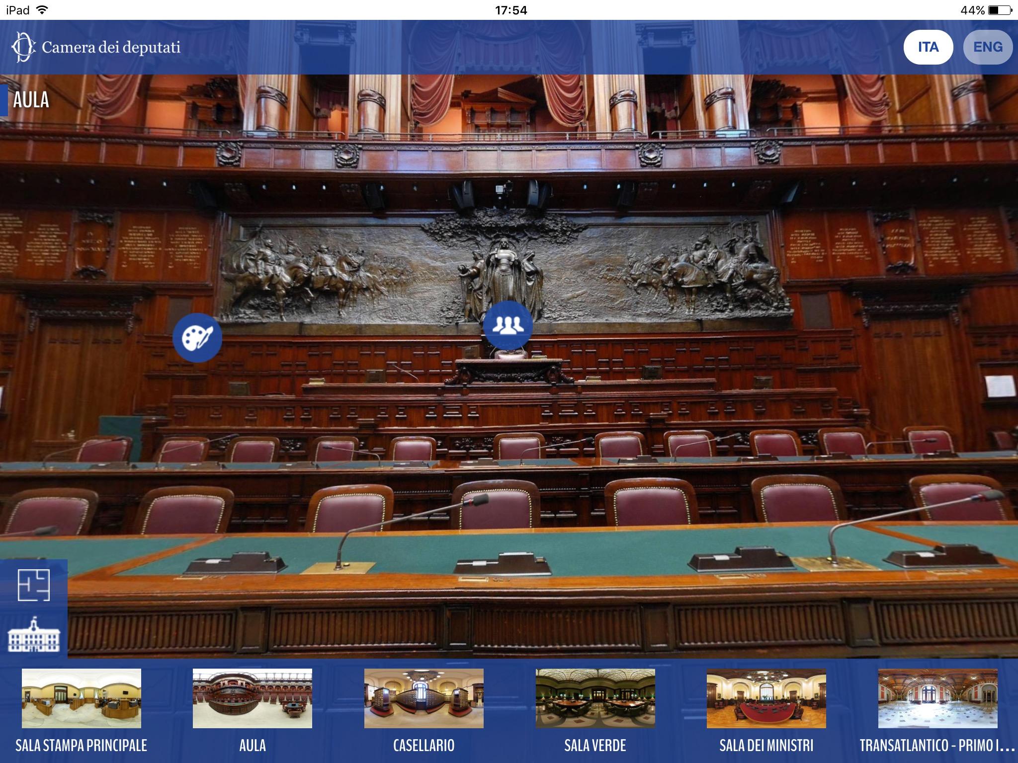 Tour virtuale della camera dei deputati montecitorio for Tv camera deputati