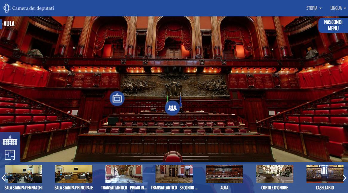 Tour virtuale della camera dei deputati carraro lab for Rassegna stampa camera deputati