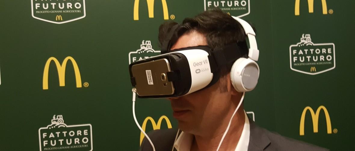 Mc Donalds presenta l'agricoltura in realtà virtuale