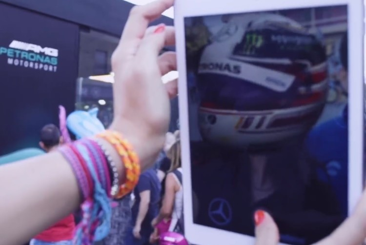 formula 1 mercedes augmented reality