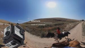 ripresa video 360 da cavallo