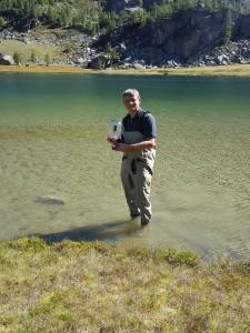 riprese sub 360 in un lago alpino
