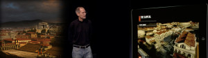 Steve Jobs presenta Roma Virtual History,m a cura di Carraro LAB e Applix