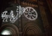 videomapping costruzione basilica di Vercelli