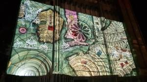 videomapping con cartografia storica