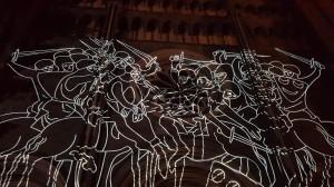 videomapping storia di San'Andrea: guerrieri medievali