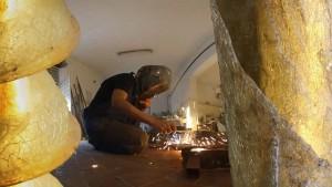 Giovanna Lisy al lavoro: frame da video 360