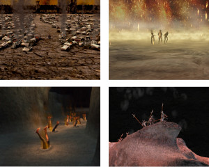 Divina Commedia virtuale:  sequenza di rendering