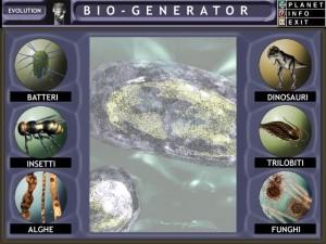 Il gioco educativo Omnia Planet: interfaccia dedicata alla origine della vita