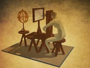 ricostruzione storica: il prospettografo di Leonardo