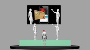 Sala regia e studio TV aumentato: la veduta dal pubblico
