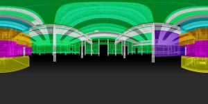 ENEA VR, interno aree termiche evidenziate cromaticamente