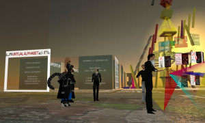 Evento virtuale in Second Life con avatar 3D