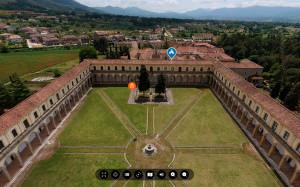 Air view: certosa di San Lorenzo, Padula