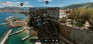 Cultura Campania, la mappa del portale immersivo