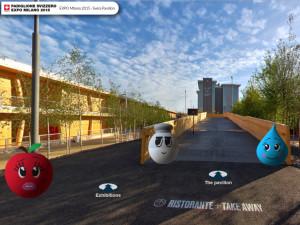 Padiglione della Svizzera in Expo 2015, con avatar 3D
