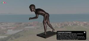 Portale Cultura Campania Modello 3D della scultura del corridore