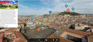 Portale Cultura Campania- Punti di Interesse nella veduta da drone
