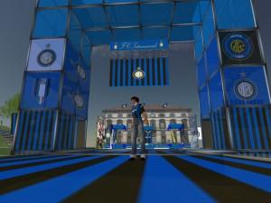 L'ingresso dell'isola dell'Inter in Second Life