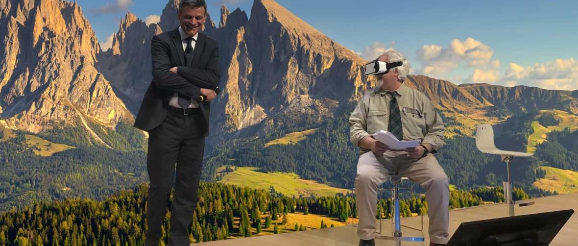 Convegno realta virtuale unicredit Talk Patrizio Roversi